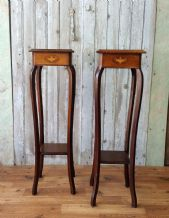 Antique plant side tables - SOLD